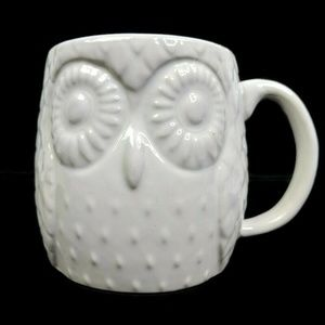 West Elm Owl Coffee Cup Mug Tea Cup Large White 3D